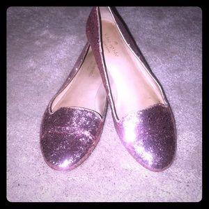 Kate Spade glitter pink flats!
